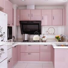 Gloss Pink Self Adhesive Vinyl Kitchen Contact Paper Wallpaper Sticker Mural