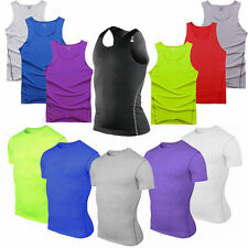 Men Sport Compression Underwear Base Layers Tee Tops Cycling Tight Skins T-Shirt