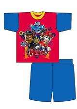 Boys Paw Patrol Shortie Pyjamas Set 12 Months to 4 Years - Red & Blue