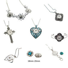 10pcs/lot Cross heart Necklace pendant Bracelet  Fit 18mm Snap Chunk Jewelry