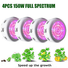4pcs150W UFO LED Grow Light Panel lamp for Veg Greenhouse Flowering Hydro Growth