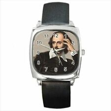 William Shakespeare Leather Strap & Stainless Steel Watches