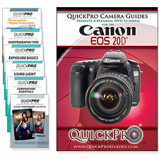 QuickPro Camera Training DVD For Canon 20D Instructional Video Guide SLR NEW
