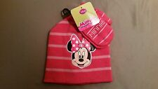 NWT Disney Minnie Mouse  Knit Beanie Hat With Gloves One Size