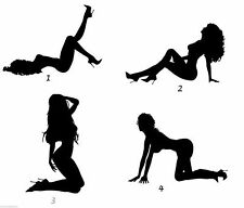 Sexy girl stripper stickers decals for wall car bike man cave garage set of four