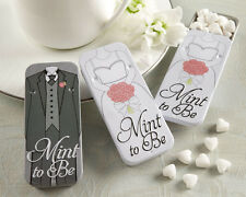 Black White Bride Groom Tins w/ Heart Mints Bridal Wedding Favor Variable Qty