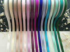 50Yrds High Quality Double(faced) Satin  Ribbon for invitation&craft, bows(10mm)