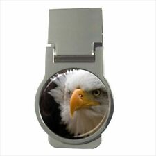 Bald Eagle Chrome Money Clip