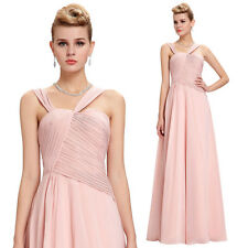Women Long Chiffon Bridesmaid Evening Formal Party Cocktail Dress Prom Ball Gown