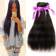 Unprocessed Brazilian Virgin Straight 100% Human Hair Weave Weft Extensions 50g