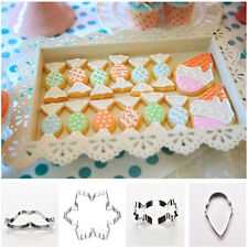 Xmas Stainless Steel Biscuit Cookie Pastry Fondant Mold Cutter Decorating GTAU
