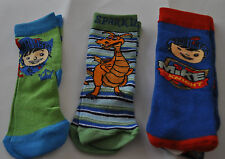 MIKE THE KNIGHT SOCKS, CHOOSE FROM MIKE OR SPARKIE, KIDS SHOE SIZE 6-8.5, 8.5-12