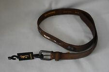 Browning Men's Leather Concho Belt Realtree Camo Insert Logo Brown