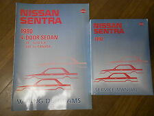 1990 Nissan Sentra Service Repair Shop Workshop Manual SET Wiring Diagram 90