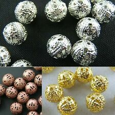 Wholesale Jewelry Finding Silver/Copper/Gold Plated Round Spacer Loose Beads 4mm