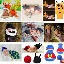 NewBorn Baby Boys Girls Crochet Knit Costume Photo Photography Prop Outfits Hat