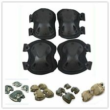 4Pcs Military Knee Elbow Protector Tactical Combat Protective Pad Set Gear Sport