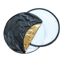 80cm/110cm 5in1 Round Light Multi Collapsible Photo Reflector Board Disc 5 Color