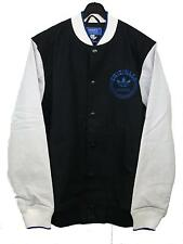 MENS ADIDAS ORIGINALS SPO VARSITY JACKET IN BLACK WHITE BNWT - RRP £69.99