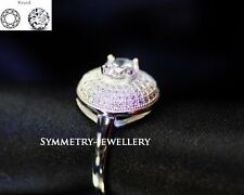 1.8CT Brilliant Cut Ring Engagement Ring Fine Jewellery Rings Silver JYB16*