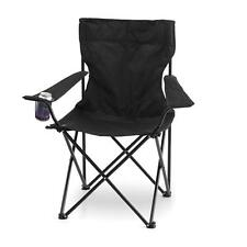 Black Foldable Camp Chair w cup holder   Beach Camping Picnic Outdoor
