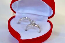 1.88 CT Round cut Diamond Solitaire Engagement Ring Solid In Sterling Silver