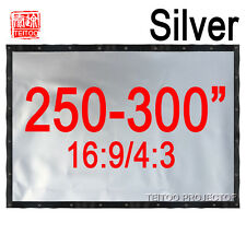 250-300 Inches Outsides 3D Movie Projector Grey Silver Projection Screen Curtain