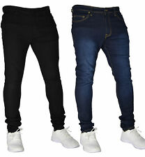 New Mens Super Stretch Skinny Slim Fit Jeans Pant Stretchy Denim Trouser 30-40