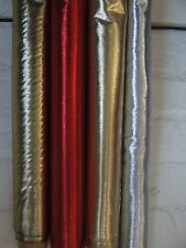 "Lame Metallic Shiny Fabric Material 45"" wide Gold Silver Red pink lilac"