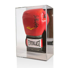 Sir Henry Cooper signed boxing glove Red Everlast In Wall Mount Acrylic Display