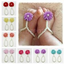 Baby Cute Flower Infant Girl feet Toddler Barefoot Blooms Sandals Shoes