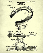 Horse Riding Patent Print Horse Shoe Blueprint Equestrian Wall Art Show Jumping
