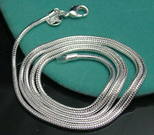 Wholesale 1pcs Fashion 925 silver plated Silver Snake 1MM-6MM Necklace Chain