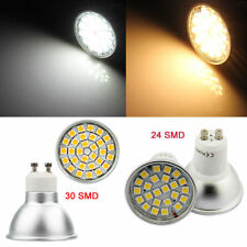 12X Dimmable GU10 7W/9W LED Bulbs Aluminum Bright 24 30 SMD Lamp Down Lights