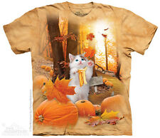 Fall Kitty Kids T-Shirt from The Mountain. Pumpkin Fantasy Child Sizes NEW