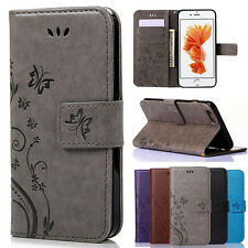 Luxury  Leather Wallet Card Slot Case Cover for Apple iPhone 6 6s 4.7'Plus SE 5s