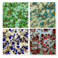 Mixed Sizes Point back Rhinestones Crystal Glass Nail Art Wedding 50g 720ps C1
