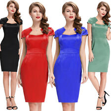 Womens Vintage Style Dress Wiggle 1950s 60s Retro Pinup Cocktail Office Evening