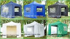 New Premium 3x3m, 2x2m or 3x4.5m Instant Pop Up Gazebo / marquee in 6 Colours