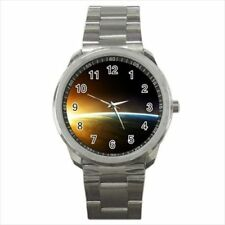 Space Sunrise Over Earth Stainless Steel Watches