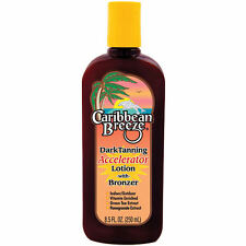 CARIBBEAN BREEZE DARK TANNING ACCELERATOR LOTION or SUN SCREEN Spf 0 tan brown