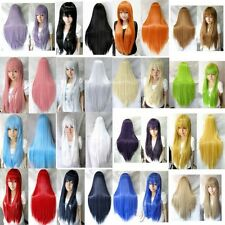 11Colors Vogue Women Lady Long Straight Cosplay Wig Heat Resistant Full Wigs New