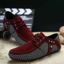 New Mens Lace Up Loafer Running Peas Shoes Casual Pu Leather Sneakers Loafer