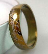 Free Engraving 8MM Lord Of The Ring Stainless Steel Personalized Ring Band