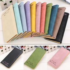 Fashion Lady Women Faux Leather Clutch Wallet Long Card Holder Case Purse FNHB