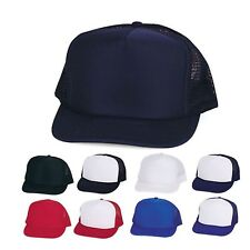 Foam Mesh 5 Panel Trucker Hats Hat Caps Cap YOUTH SIZE for Boys Girls Kids