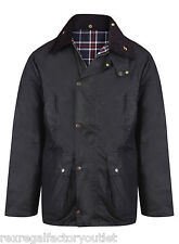 Mens New Union Jack Wax Unpadded Jacket Lightweight Wax Coat