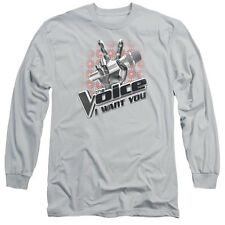 """The Voice """"Microphone Logo"""" Long Sleeve T-Shirt"""
