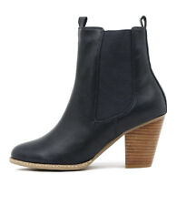 I Love Billy Cappy Dark Navy Smooth Women Shoes Casuals Boots Ankle Boots