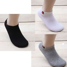 8 pairs Mens Ankle Socks Casual Fashion 3 Color Design Cotton Low Cut Korea